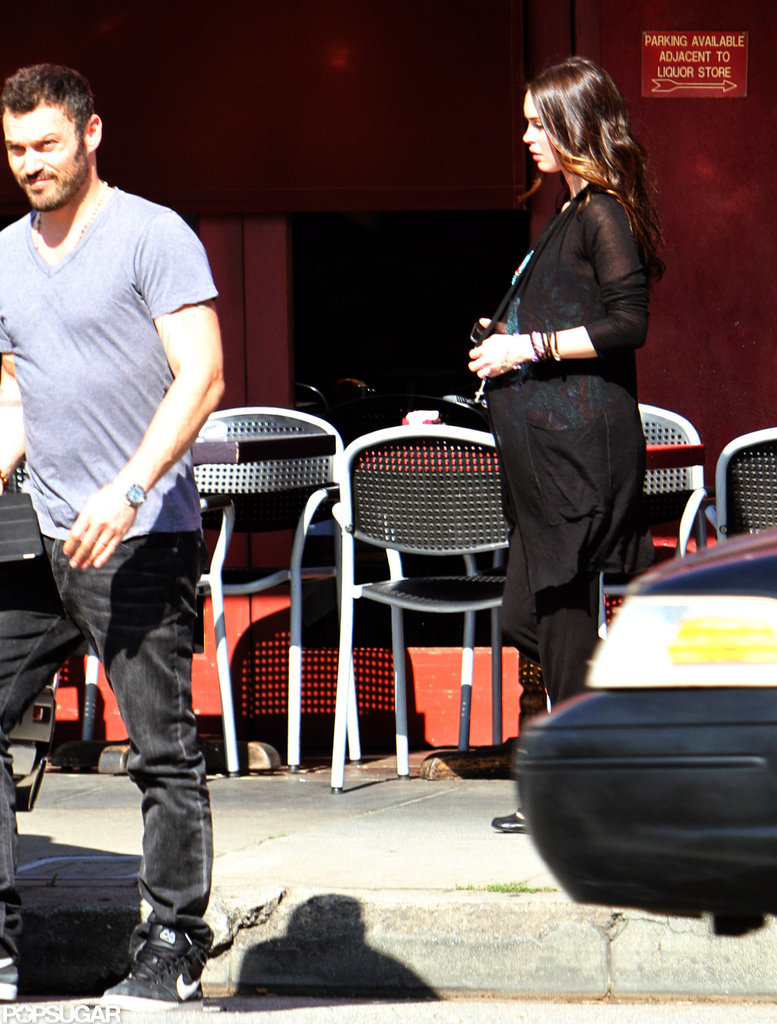 Megan Fox Steps Out and Covers Up During a Lunch Date