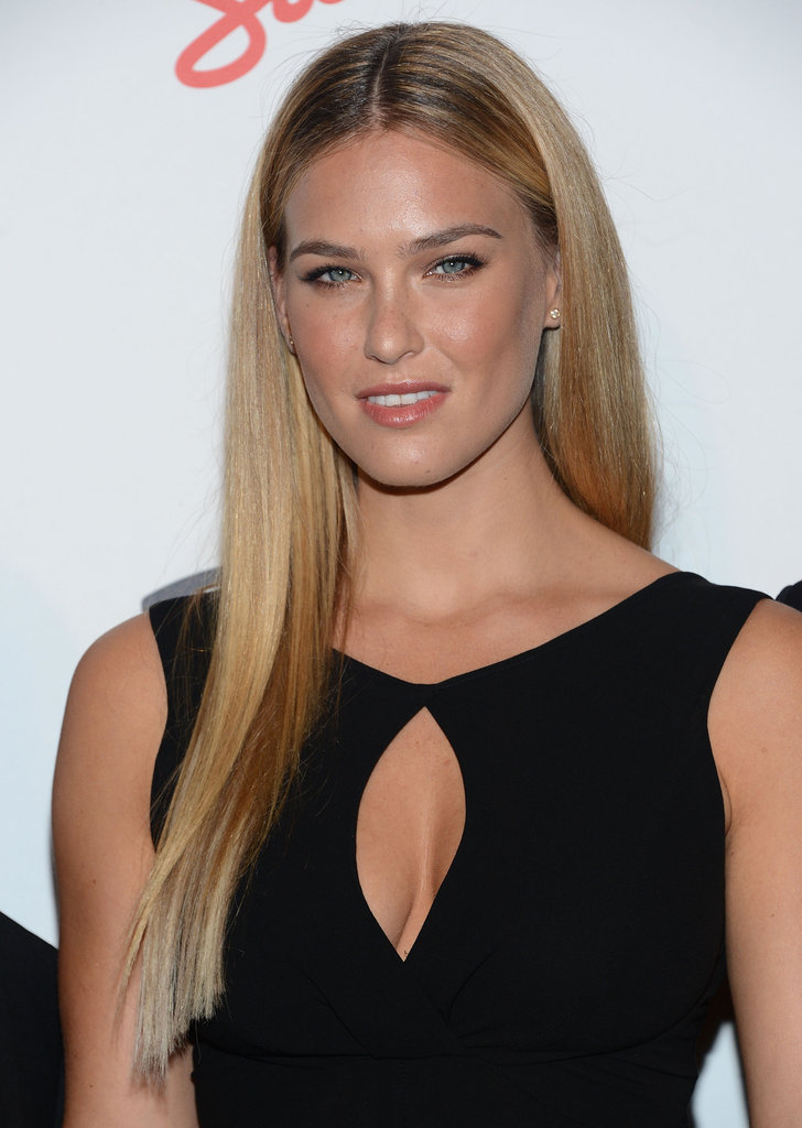 Bar Refaeli flashed her blue eyes for the camera at the Maxim Hot 100 List party in NYC.