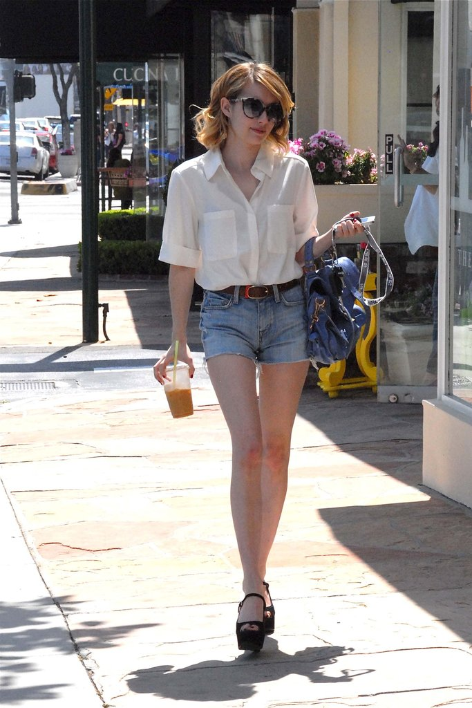Emma Roberts gave us a must-mimic cutoff look while out in LA.