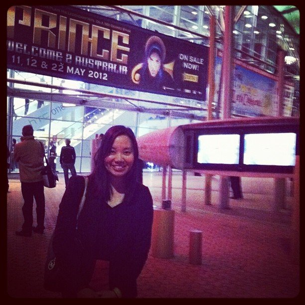 Pop ed Jess at the Prince concert in Sydney.