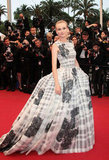 Diane Kruger wore Spring 2012 Christian Dior Couture at the 2012 Cannes Film Festival premiere of Therese Desqueyroux.