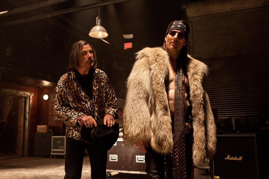 Alec Baldwin and Tom Cruise in Rock of Ages. Photos courtesy of Warner Bros.