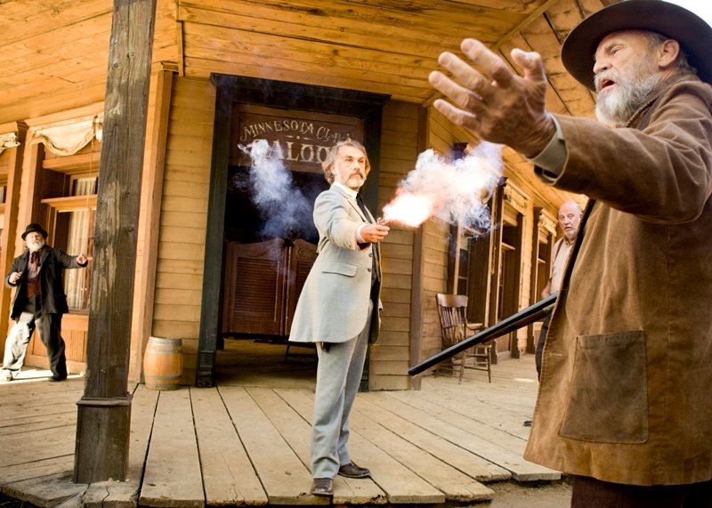Christoph Waltz in Django Unchained. Photos courtesy of The Weinstein Co.