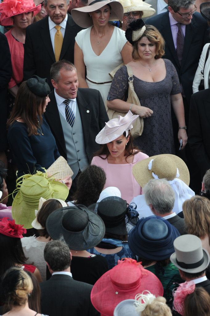 Kate Middleton chatted with all the guests at Buckingham Palace.