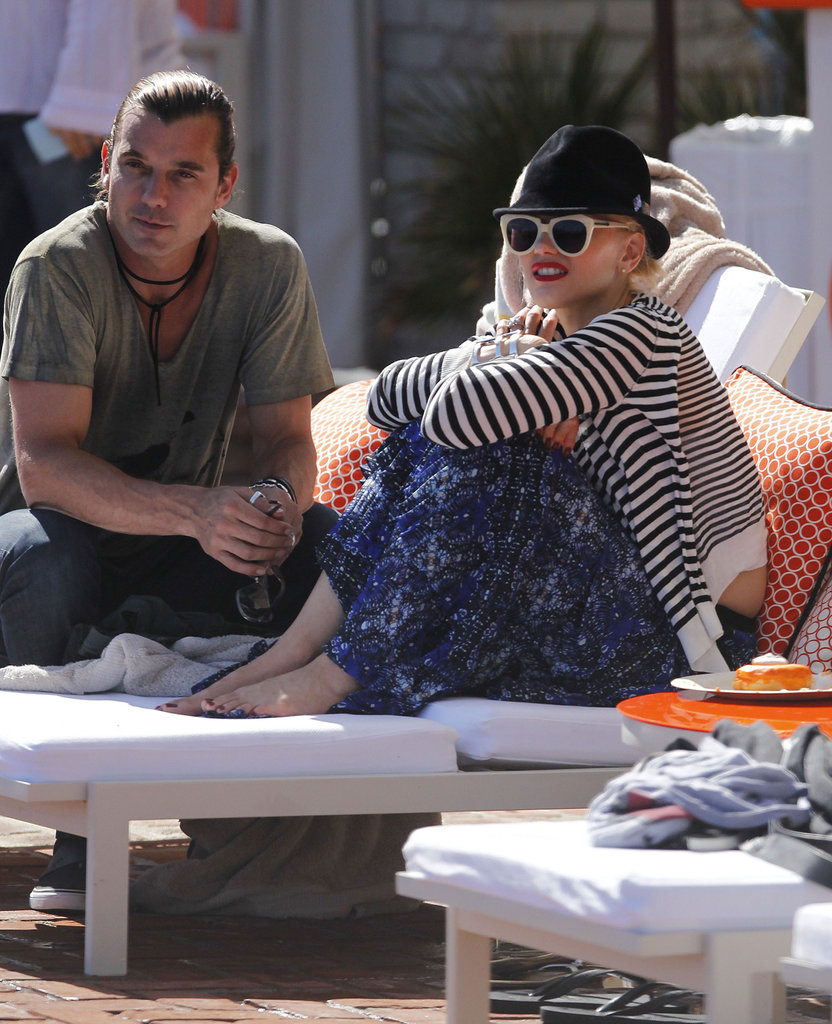 Gavin Rossdale and Gwen Stefani enjoyed the sun on Memorial Day in LA.