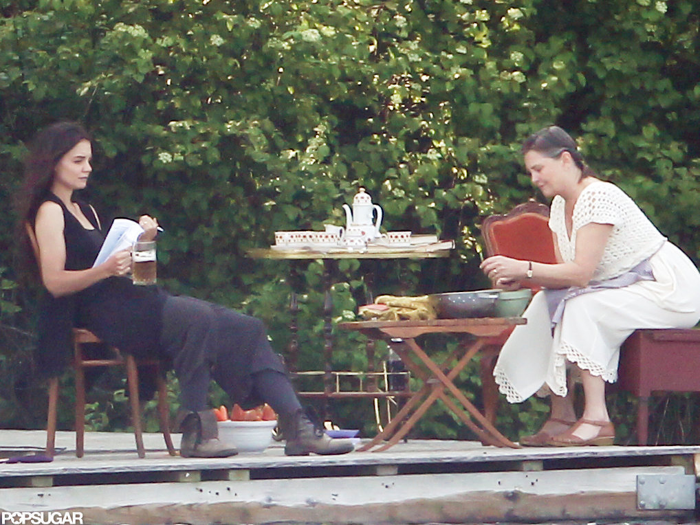Katie Holmes was joined by actress Cherry Jones as they rehearsed a scene.