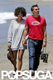 Halle Berry and Olivier Martinez went barefoot on the beach over the Memorial Day weekend.