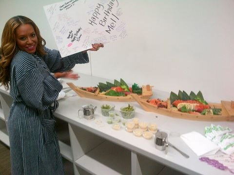 Mel B received a sweet birthday surprise from her friends at The X Factor. Source: Twitter user OfficialMelB
