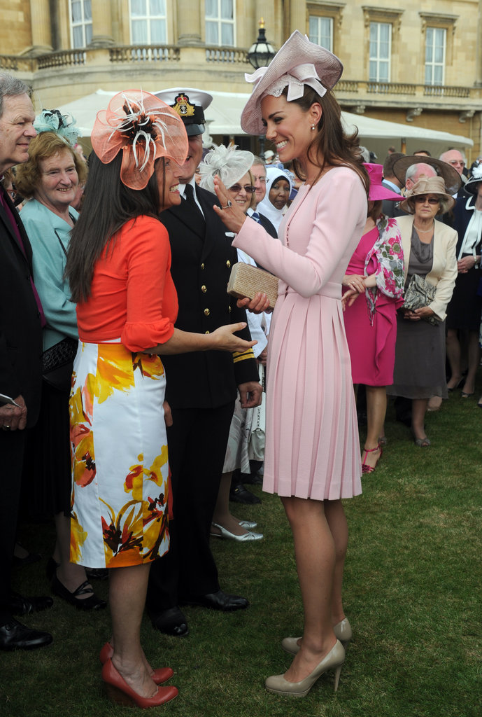 Kate Middleton was all smiles as she chatted with guests.