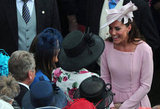Kate Middleton was all smiles as she spoke with guests.