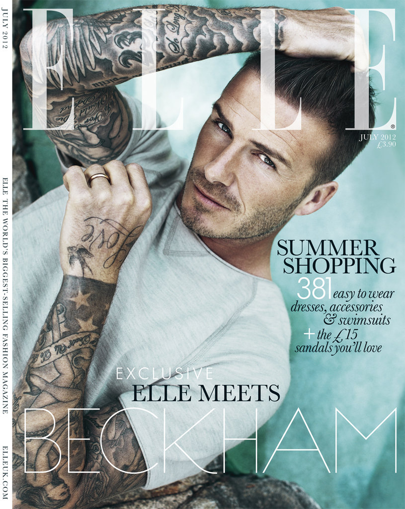 David Beckham in Elle UK.
