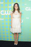 Rachel Bilson made an appearance in an ultrafemme Chanel LWD at The CW's upfronts.