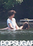 Katie Holmes and Suri Cruise waded through the water while visiting a pond in Kent, CT.