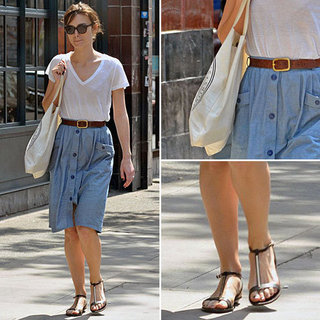 Keira Knightley Denim Skirt May 29, 2012
