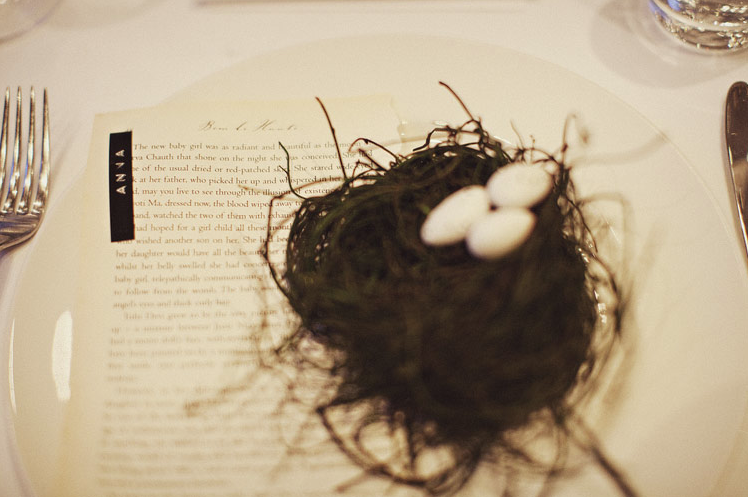 Enchanted Forest Bird's Nest Place Cards