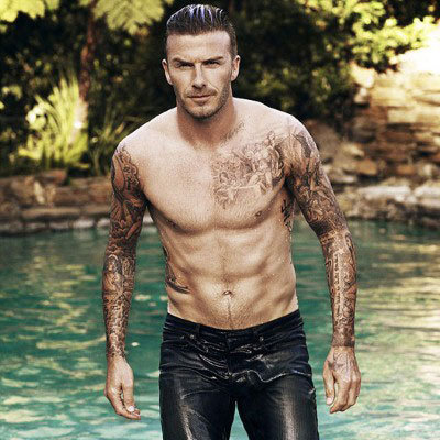 David Beckham Shirtless and Steamy is First Man Elle UK Cover: See Both July 2012 Cover Options Up Close!