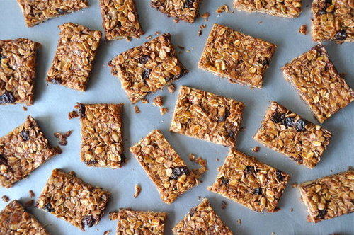 Peanut Butter &amp; Nutella Granola Bars