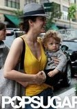 Marion Cotillard and her little guy, Marcel, spent the day in NYC.