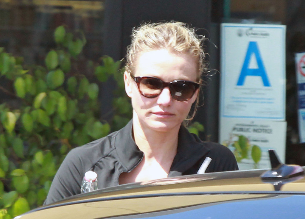 Cameron Diaz headed home after a workout.