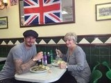 David Beckham enjoyed a sweet lunch with his mom in London.  Source: Facebook user David Beckham