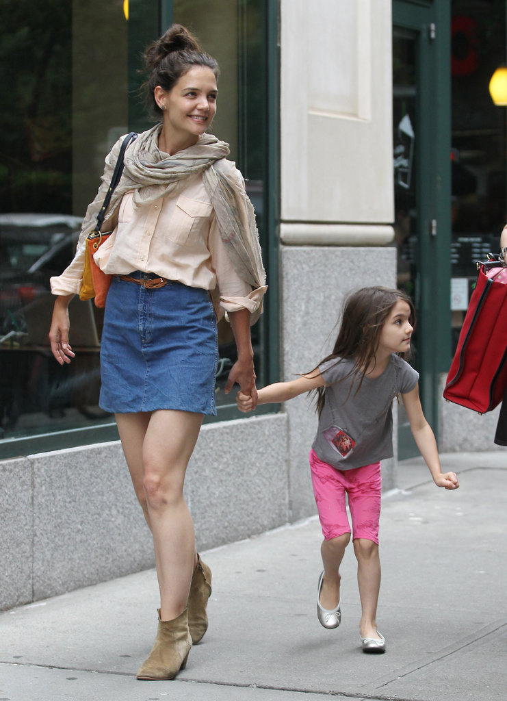 Katie Holmes and Suri Cruise returned to NYC after spending time in Connecticut.
