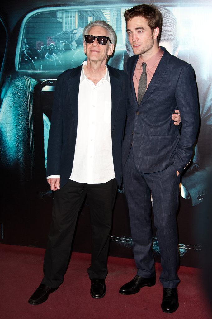 Robert Pattinson and David Cronenberg  met up in Paris at the Cosmopolis premiere at Le Grand Rex.