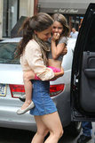 Katie Holmes gave Suri Cruise a lift into the car.