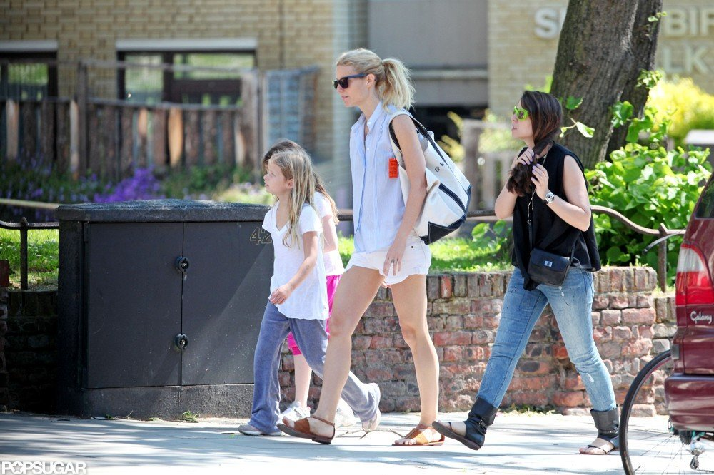 Gwyneth Paltrow was out and about  with Apple in London.