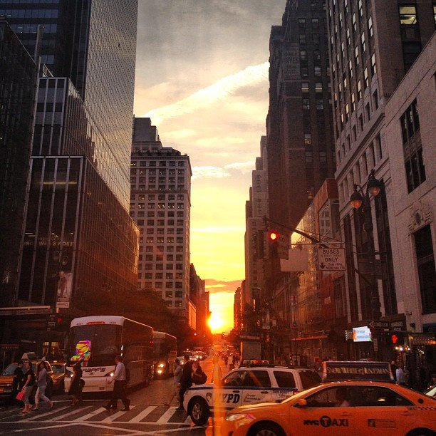Super_fresh's view of the sunset at rush hour.