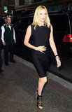 Charlize Theron stepped out to promote Snow White on the Today show in a fitted black Lanvin sheath.