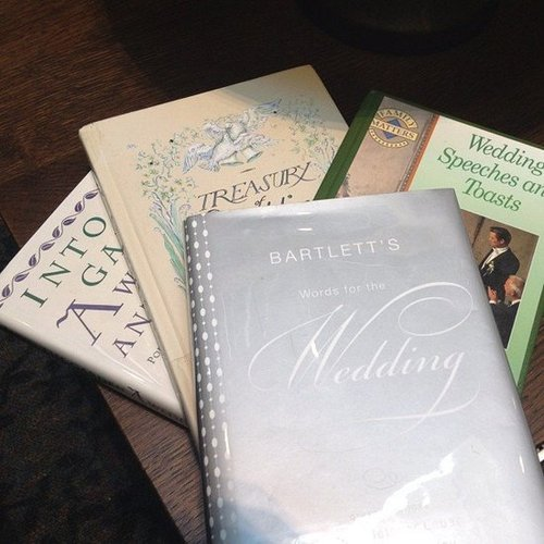 Karlibulnes shared her wedding reads.