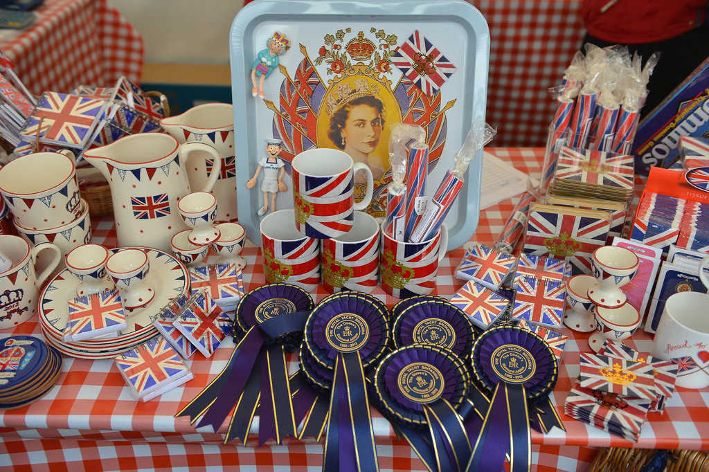 Diamond Jubilee memorabilia was displayed on the Royal Yacht Britannia.