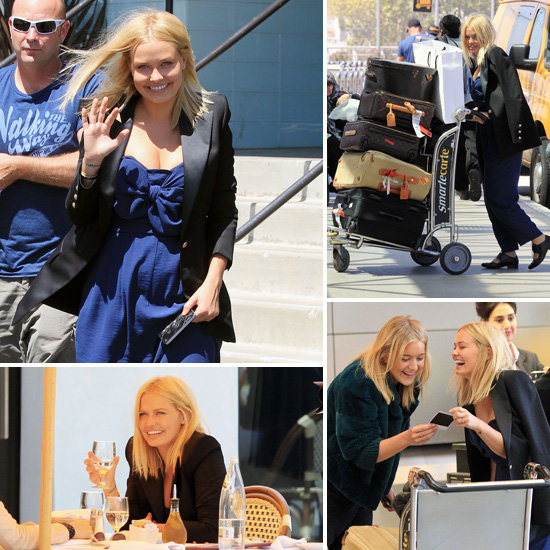 Lara Bingle Works the Camera as She Departs LA For India