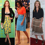 6 Celebrity Knee-Length Skirt Looks We're Feeling Right Now