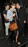 Keira Knightley and her fiancé, James Righton, went out to dinner in celebration of their engagement in London.