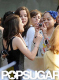 Kristen Stewart chatted with fans at her Today show appearance in NYC.
