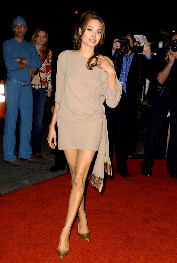 Angelina Jolie stepped out in a short minidress for the March 2004 LA premiere of Taking Lives.