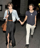 Keira Knightley and James Righton held hands during a night out in London.