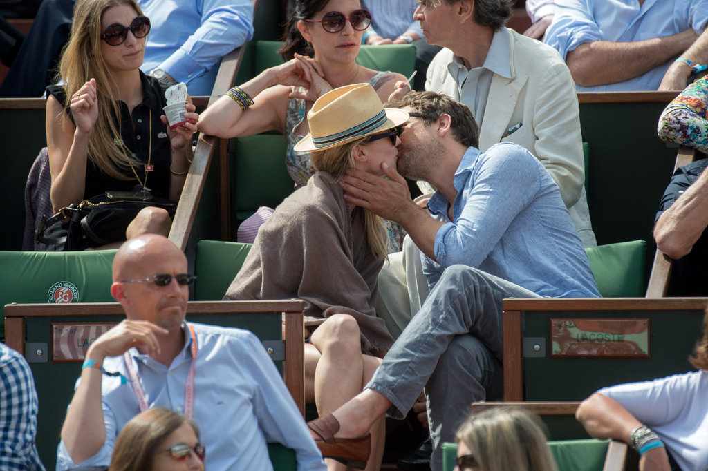 Joshua Jackson and Diane Kruger kissed at the French Open.