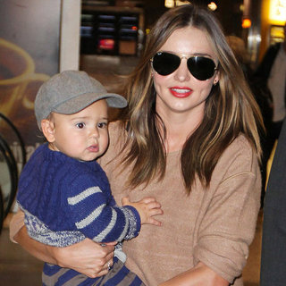 Miranda Kerr Carrying Flynn Bloom in Sydney Airport Pictures