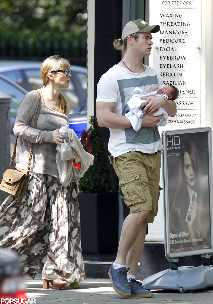 Chris Hemsworth and Elsa Pataky showed off their daughter, India.