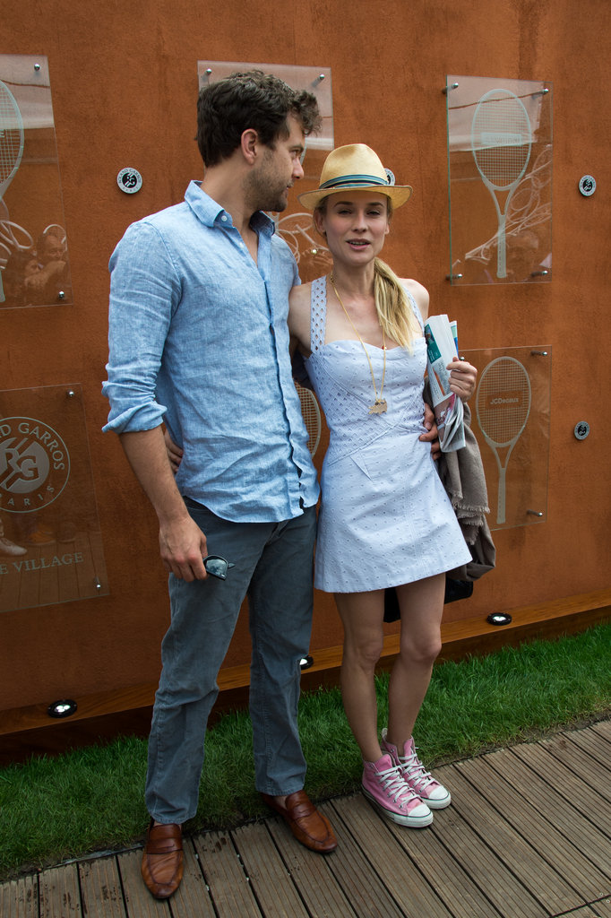 Diane Kruger wore a casual sundress to the French Open.