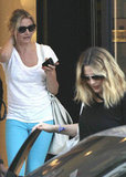 Cameron Diaz accompanied Drew Barrymore for her final dress fitting in LA.