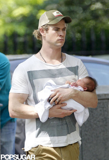 Chris Hemsworth took baby India out in London.