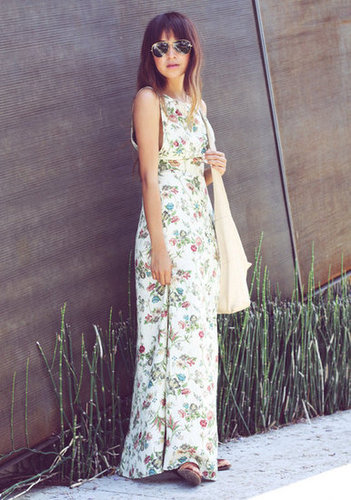 The simplest of Summer styles — a floral maxi is a no-fuss way to dress for the season without trying too hard.  Photo courtesy of Sincerely Jules