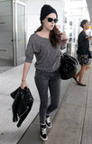 Kristen Stewart Wears Shades of Grey For Her NYC Airport Arrival