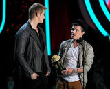 Alexander Ludwig and Josh Hutcherson