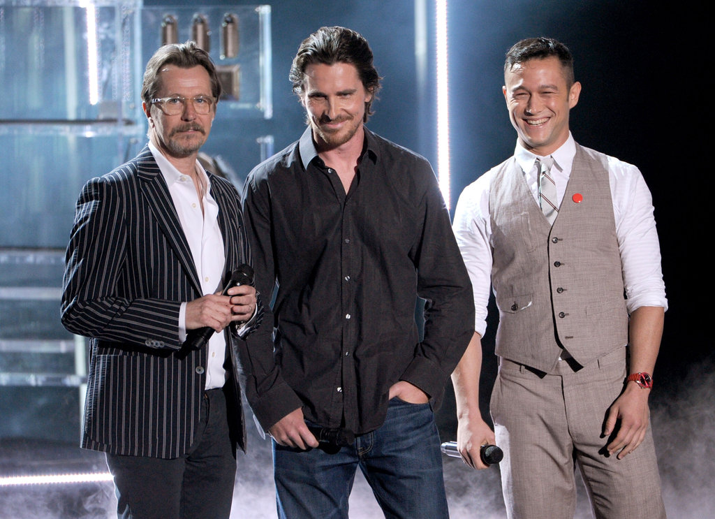 The crowd went wild for Gary Oldman, Christian Bale, and Joseph Gordon-Levitt.