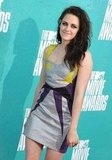 Kristen Stewart gave a shy smile at the MTV Movie Awards.
