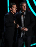 Matthew McConaughey and Channing Tatum stepped out on stage together.